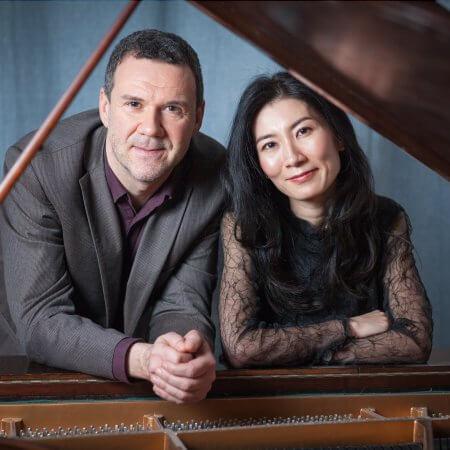 Rainer Killius, Komponist und Sänger, Musikerportraits am Fluegel mit Pianistin Mai Yakushiji